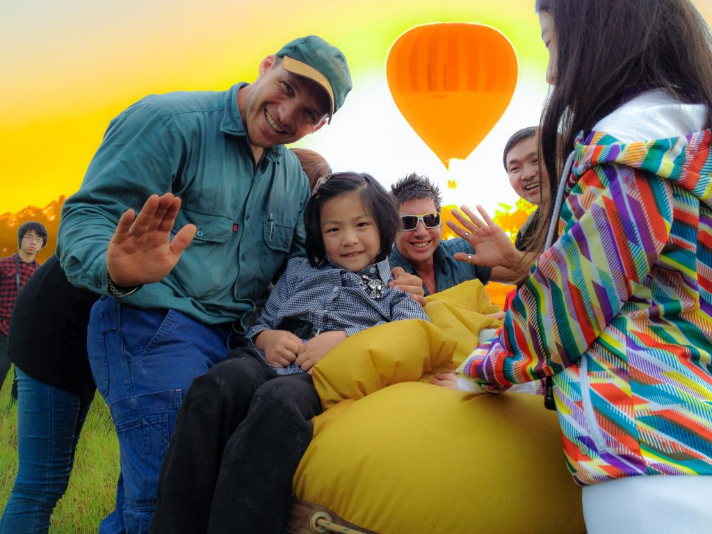 Staff and passengers at Balloons Over Brisbane