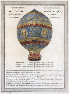 Historic hot air balloon design
