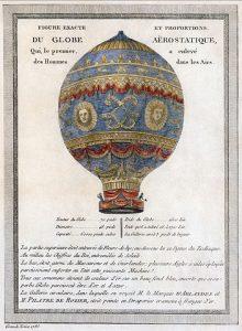 Historic hot air balloon design